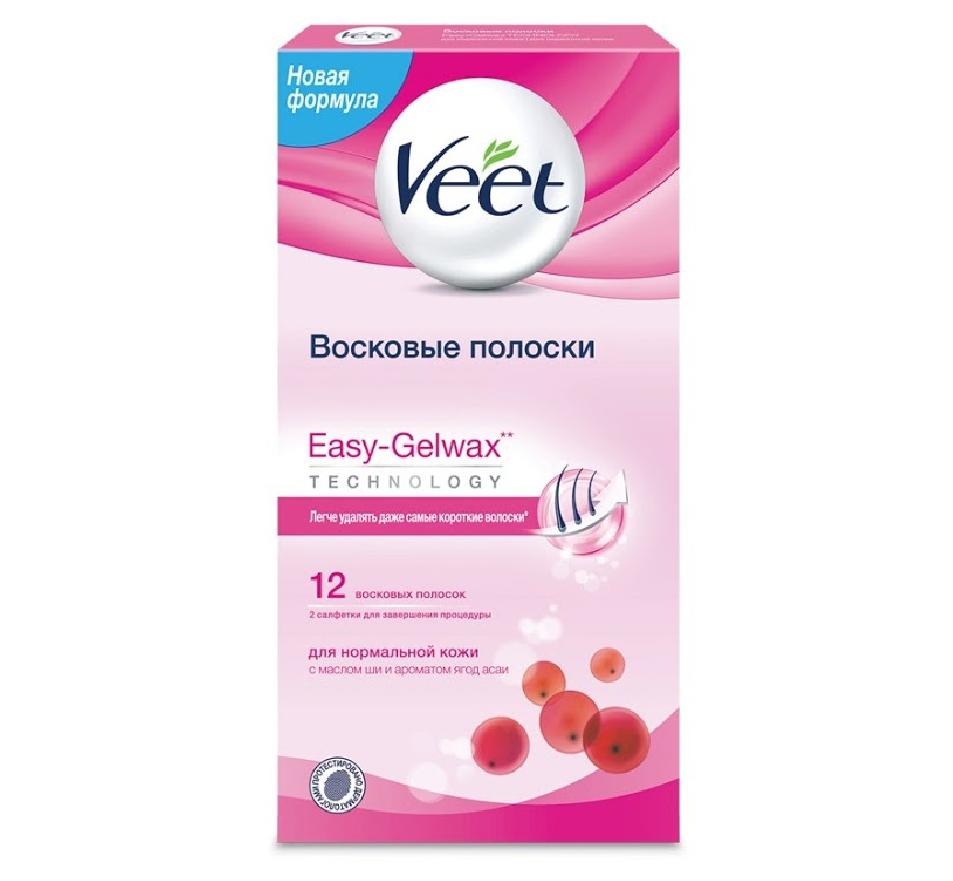 Восковые полоски VEET Easy-GelWax для нормальной кожи отзывы