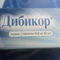 Отзыв о Дибикор: Дибикор - лекарство, которое заслуживает внимания.