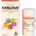 Отзыв о Кардонат: Прекрасный комплекс аминокислот и витаминов группы B