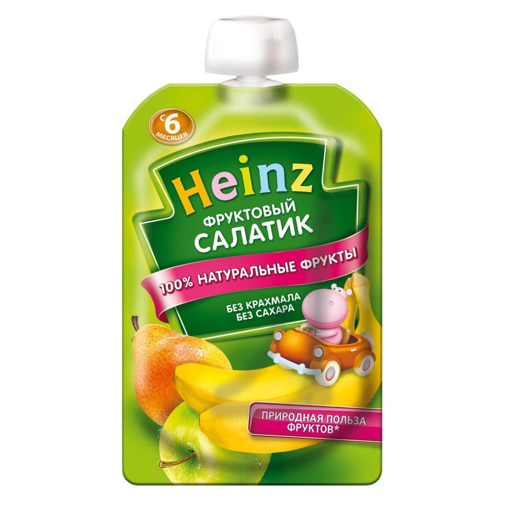 Пюре Heinz фруктовый салатик пауч