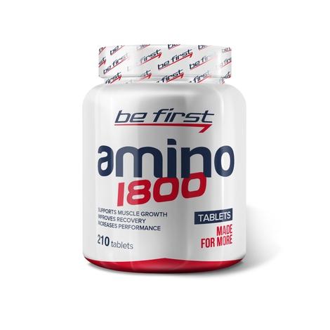 Be First Аминокислоты Amino 1800 210 таблеток