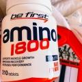 Отзыв о Be First Аминокислоты Amino 1800 210 таблеток: Банка огромная