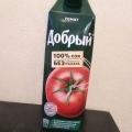 Отзыв о сок добрый томатный: Хороший томатный сок, вкусный и густой. И для диеты отлично!